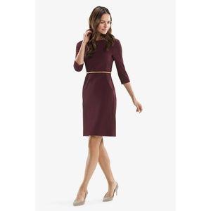 MM Lafleur Etsuko Dress Claret EUC Size 2 No Belt